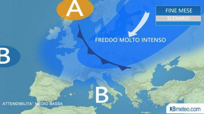 Gelo polare in arrivo dal Baltico temperature in picchiata