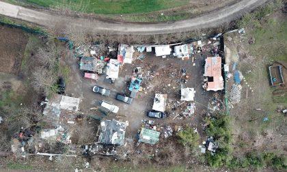 Smantellato campo nomadi abusivo a Vigevano FOTO