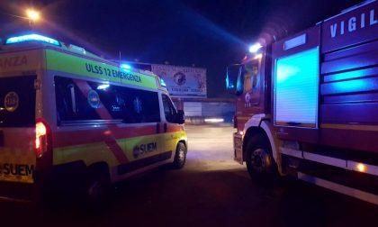 Incidente stradale grave 75enne SIRENE DI NOTTE