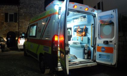 Incidente in moto, soccorso 47enne SIRENE DI NOTTE