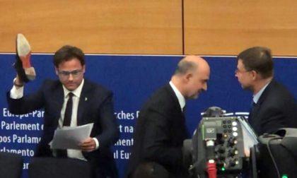 """Europarlamentare Ciocca a Lodi: """"La scarpa con Moscovici? Nessuna pagliacciata"""""""