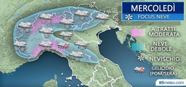 Nuova perturbazione in arrivo: ed è ancora allerta neve PREVISIONI METEO