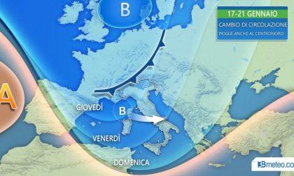 Da giovedì si cambia: tornano le piogge e la neve al Centro-Nord PREVISIONI METEO