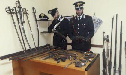 Arsenale in casa, trovate 40 armi detenute illegalmente