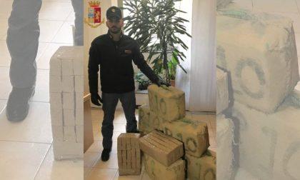 250 chili di hashish nascosti in un box: arrestato 31enne