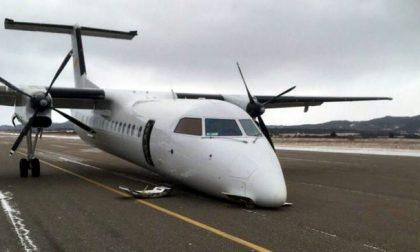 Aereo atterra senza carrello all'aeroporto di Novi Ligure, era partito da Voghera VIDEO
