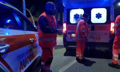 Contro un ostacolo in autostrada, soccorsi due uomini SIRENE DI NOTTE