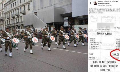 Adunata Alpini a Milano: spuntino da 200 euro, protesta social dal Cadore