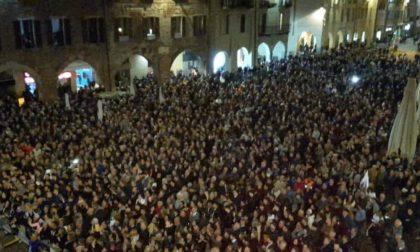 Matteo Salvini a Pavia: il corteo dei contestatori fermato dalla Polizia