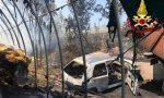 A fuoco maneggio a Inverno e Monteleone, animali in salvo