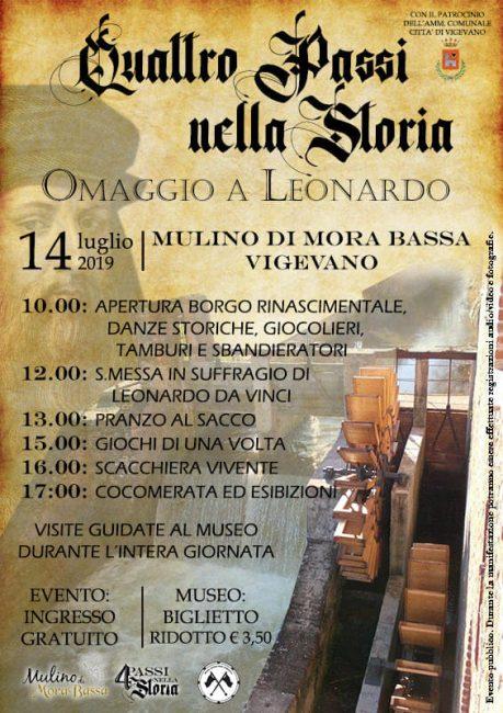 Quattro passi nella Storia con Leonardo da Vinci a Mulino di Mora Bassa