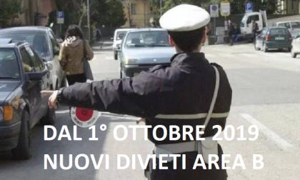 Dal 1 ottobre nuovi divieti alla circolazione in Area B