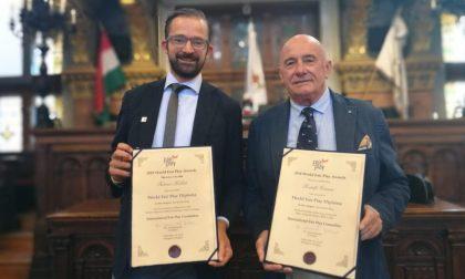 Premio Fair Play Panathlon International: diploma d'onore a due pavesi