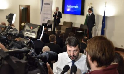 Salvini in Brianza ospite di Cancro primo aiuto e Netweek FOTO
