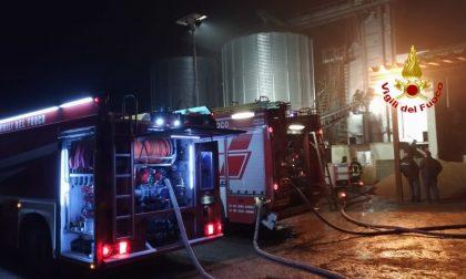Incendio silos a Garlasco: a fuoco 500 quintali di riso FOTO