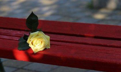 Omicidio Garlasco, la mamma di Chiara Poggi inaugura la panchina rossa