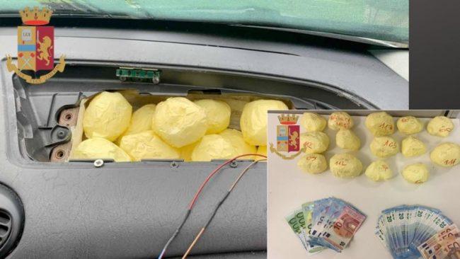 Nasconde in auto oltre un chilo di cocaina: arrestato 71enne VIDEO