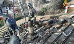 A fuoco canna fumaria a Torre d'Isola: le operazioni di spegnimento FOTO