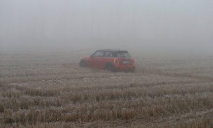 Schianto nella nebbia: le auto finiscono nel campo FOTO