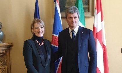 """L'ambasciatrice britannica in visita a Pavia: """"Looking for Monna Lisa, mostra meravigliosa"""""""