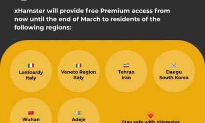 Porno gratis per chi è in quarantena: a Wuhan, ma anche in Lombardia e Veneto