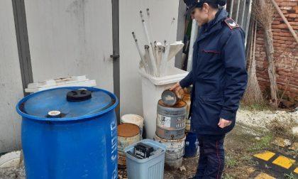 Montagna di rifiuti accatastata irregolarmente in area comunale