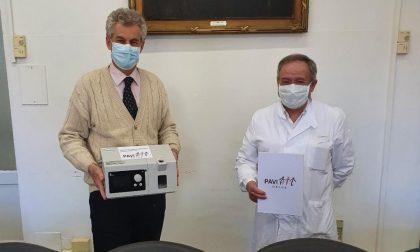 """""""Paviail"""" dona 50mila euro per l'acquisto di 7 ventilatori per il Policlinico San Matteo"""