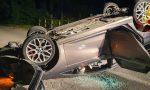 Auto ribaltata a Cassolnovo: al suo interno non trovano nessuno FOTO