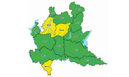 Allerta meteo: codice giallo per rischio temporali forti in Oltrepò Pavese