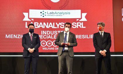 """LabAnalysis pavese riceve il """"Welfare Champion 2020"""" con menzione speciale resilienza al Covid-19"""