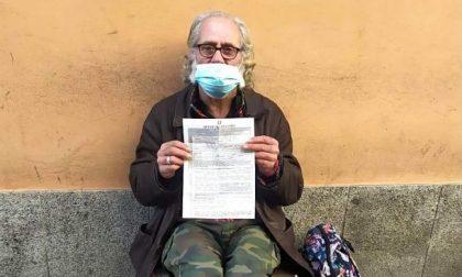 Senzatetto multato perchè lontano da casa nonostante le restrizioni Covid