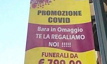 """""""Promozione Covid, cappotto di legno in regalo"""": polemica per la pubblicità delle pompe funebri"""