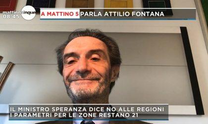 """Lombardia zona rossa fino al 27 novembre, Fontana: """"Ma abbiamo numeri da zona arancione"""""""