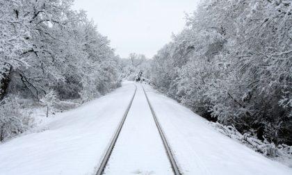 Scatta il piano neve sulla circolazione ferroviaria: oggi meno treni sui binari
