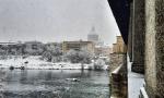 E' arrivata la neve a Pavia: le foto della nevicata in città