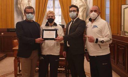 Premiata in Comune Valentina Bustamante, campionessa italiana di pugilato