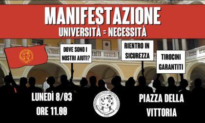 """Manifestazione degli Universitari in piazza Vittoria: """"Siamo stati dimenticati"""""""