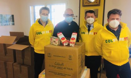 15 quintali di prodotti alimentari 100% italiani in dono alle famiglie in difficoltà