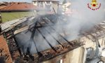Esplode casa nella Bergamasca, le foto e il video delle squadre dei Vigili del Fuoco in aiuto da Pavia