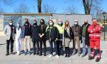 L'assessore alla Protezione Civile Foroni in visita al centro vaccinale di Voghera
