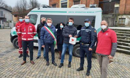 Donato un defibrillatore alla Polizia Locale di Bressana Bottarone