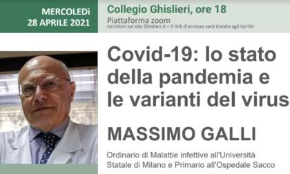 Il virologo Massimo Galli al Ghislieri per fare il punto su pandemia e varianti