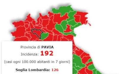 Incidenza contagi Covid: Pavia sotto la soglia critica, la curva lombarda inizia a scendere