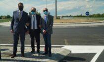 A Broni inaugurata la nuova rotatoria di via Vescovera