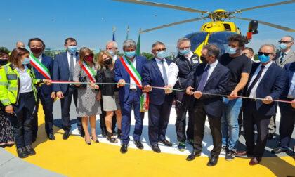 """Inaugurata l'elisuperficie del San Matteo, Fontana: """"Da oggi fa parte del nostro sistema di emergenza-urgenza"""""""