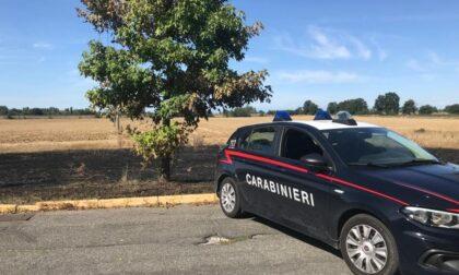 Brucia i suoi effetti personali ma dà fuoco a un campo: 35enne nei guai