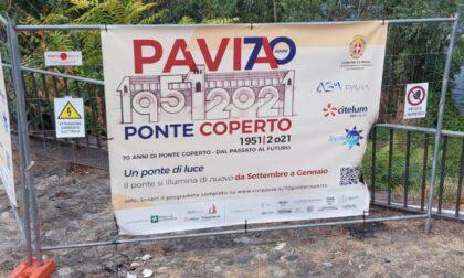 """Tentano di bruciare un cartellone dei 70 anni del Ponte Coperto: """"Fototrappole e controlli potenziati"""""""
